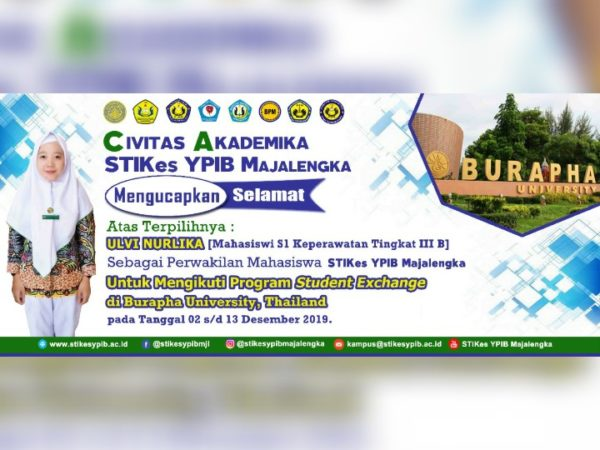 Program Student Exchange di Burapha University Thailand